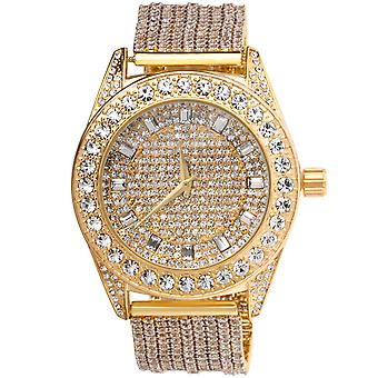 High quality FULL ICED OUT CZ watch - gold