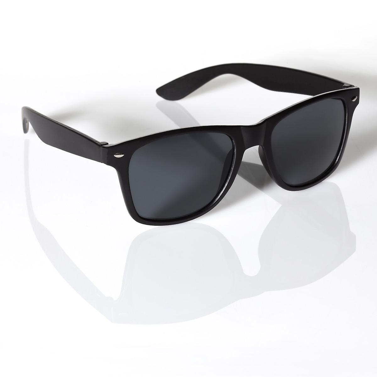 BLACK WAYFARER SUNGLASSES UV400 UNISEX RETRO 80'S geek shades aviator classic