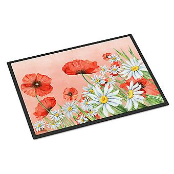 Poppies and Chamomiles Indoor or Outdoor Mat 24x36