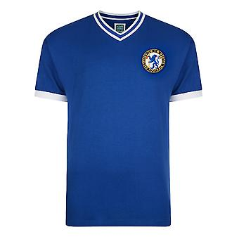 Chelsea FC Mens Official Football 1960 No8 Retro Short Sleeve Shirt