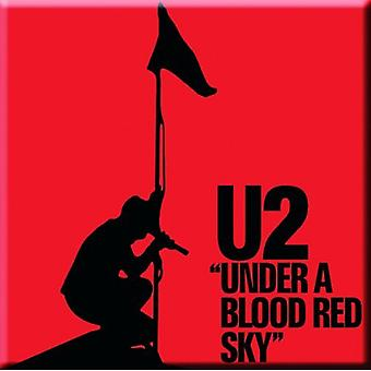 U2 Fridge Magnet Under A Blood Red Sky new Official 76mm x 76mm