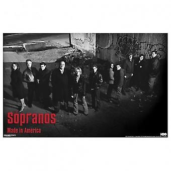 The Sopranos-Alleyway Poster Poster Print by