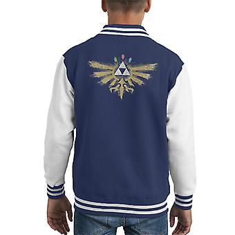 Legend Of Zelda True Hyrule Power Kid's Varsity Jacket