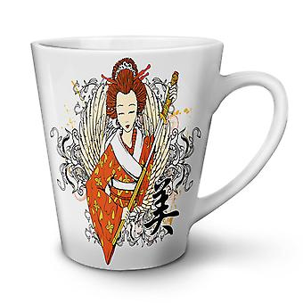 Geisha WIng Sword Fantasy NEW White Tea Coffee Ceramic Latte Mug 17 oz | Wellcoda