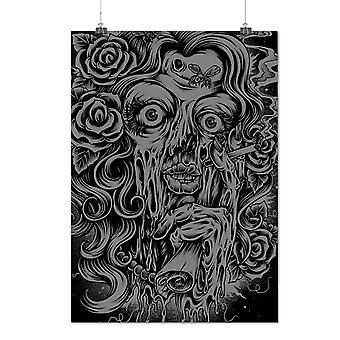 Matte or Glossy Poster with Face Mystic Scary Skull | Wellcoda | *d1996