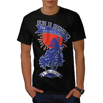 Sun Is Shining Holiday Men BlackT-shirt | Wellcoda