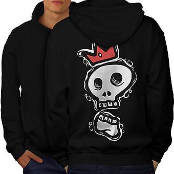 Skull Of The King Men BlackHoodie Back | Wellcoda