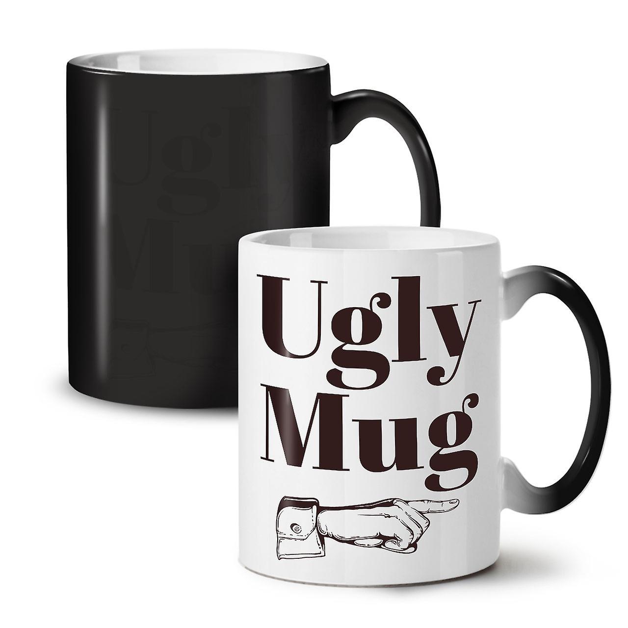 OzWellcoda 11 Thé Céramique Nouvelle Couleur Noir Tasse Ugly Changeant Mug Café TluFKJ31c5