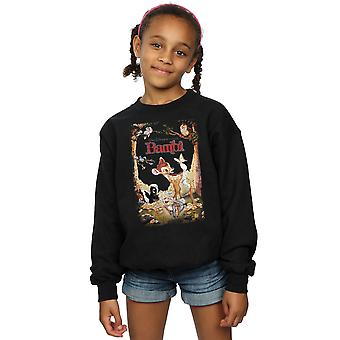 Disney jenter Bambi Retro plakat Sweatshirt