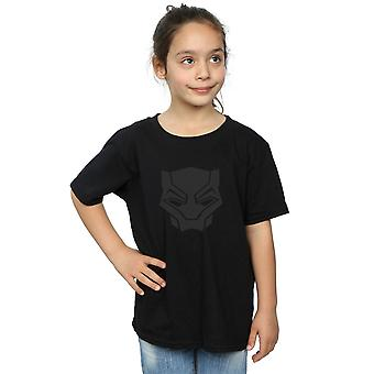 Marvel Girls Black Panther Black On Black T-Shirt