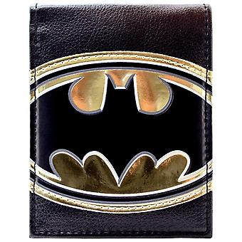 DC Comics Batman Shiny Gold Symbol ID & Card Bi-Fold Wallet