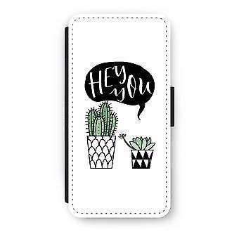 iPhone 8 Flip Case - Hey you cactus