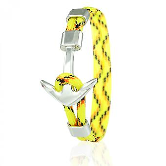 Skipper anchor bracelet 21 cm nylon bracelets in yellow/colored with silver anchor 6967