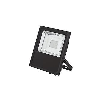 TimeGuard udendørs kommercielle 150W LED projektør, højkapacitet, sort