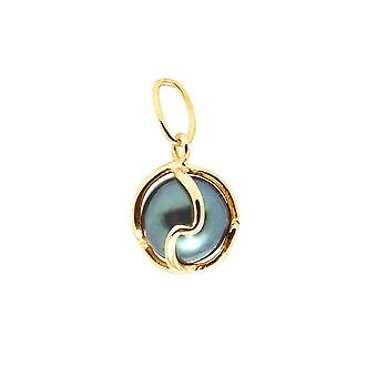 Tahitian Pearl pendant and gold 750/1000