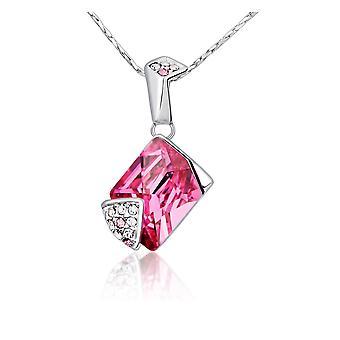 Swarovski Rose crystal pendant