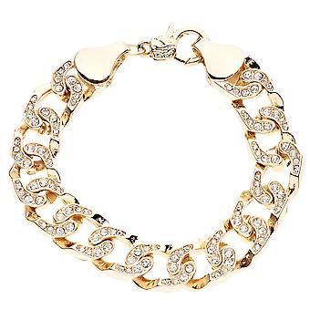 Iced out bling MICRO PAVE bracelet - CHAIN STYLE gold