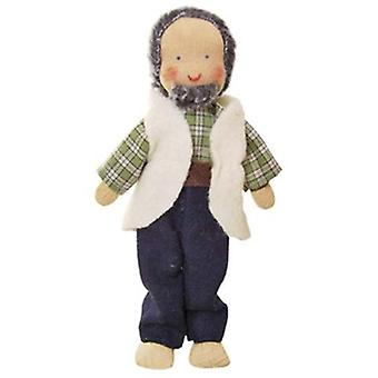 Kathe Kruse Flexible Waldorf Doll Grandfather With Beard