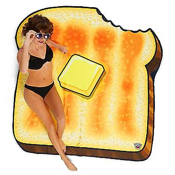 Beach towel toast buttered toast towel Beach blanket toast cloth sheet 156 x 156 cm