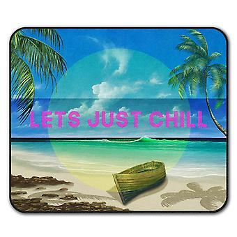 Chill Palm Travel  Non-Slip Mouse Mat Pad 24cm x 20cm | Wellcoda