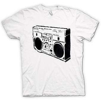 Mens T-shirt - Ghettoblaster Old School - BW