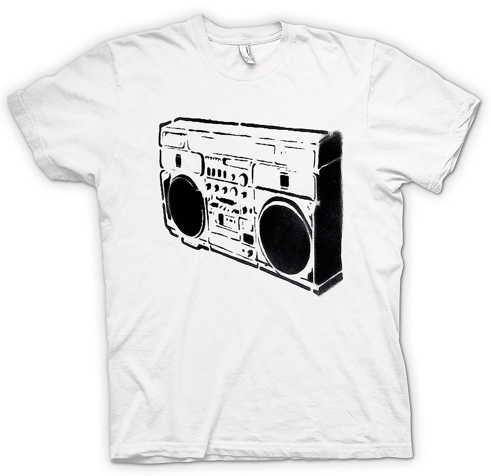 Mens T-shirt - Ghettoblaster-Old-School - BW