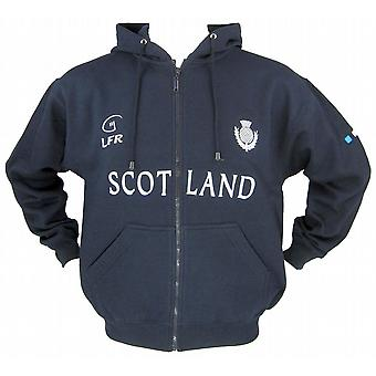 Scotland Thistle Navy Full Zip Rugby Hoody By Live for Ruby Sizes XS - XXL