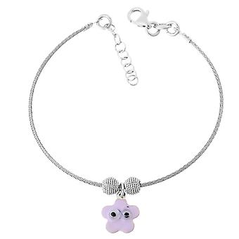 Orphelia Silver 925 Kids Bangle Lila Flower  ZA-7142