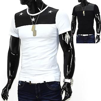 Men Summer T-Shirt Polo Stretch Slim fit Clubwear Shirt Starshine