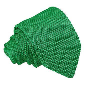 Zielony las z dzianiny wąski krawat