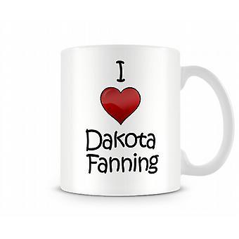 Ik hou van Dakota Fanning bedrukte mok