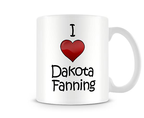 I Love Dakota Fanning Printed Mug