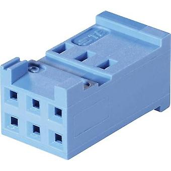 TE Connectivity Socket enclosure - cable AMPMODU HE13/14 Total number of pins 10 Contact spacing: 2.54 mm 281839-5 1 pc(