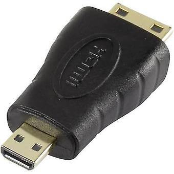 SpeaKa Professional HDMI Adapter [1x HDMI plug C mini - 1x HDMI socket D Micro] Black