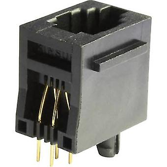Modular mounted socket Socket, vertical vertical MEB4/4PST Black econ connect MEB4/4PST 1 pc(s)