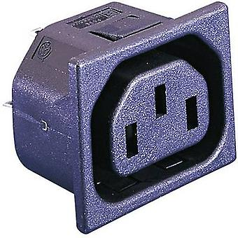 IEC connector PX Series (mains connectors) PX Socket, vertical vertical Total number of pins: 2 + PE 10 A Black Bulgin P