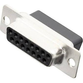 MH Connectors MHDBC15-SS D-SUB receptacles 180 ° Number of pins: 15 Crimp 1 pc(s)