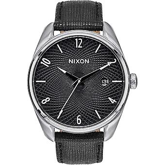 Nixon The Bullet Leather Watch - Black