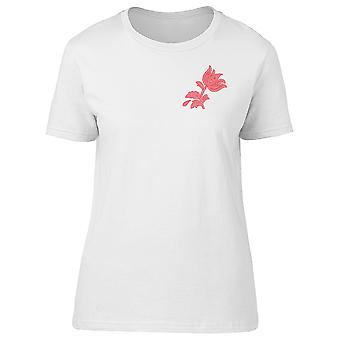 Pink Silhouette Of A Flower Tee Women's -Image by Shutterstock
