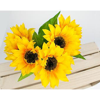 7-Headed Artificial Fabric Sunflower Spray for Floristry Crafts