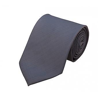 Schlips Krawatte Krawatten Binder 8cm grau uni Streifen gestreift Fabio Farini