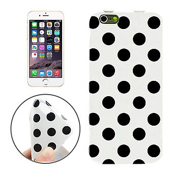 TPU back cover sleeve dotted for phone Apple iPhone 6 white / black
