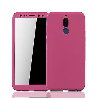 Huawei companheiro 10 Lite celular escudo proteção completa tampa tanque proteção vidro rosa