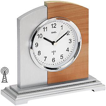 Applicazione radio tavolo orologio tavolo clock radio nucleo faggio/alluminio su cabinet in legno