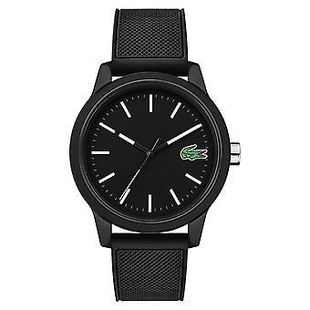 Lacoste 12.12 svart gummi rem 2010986 Watch