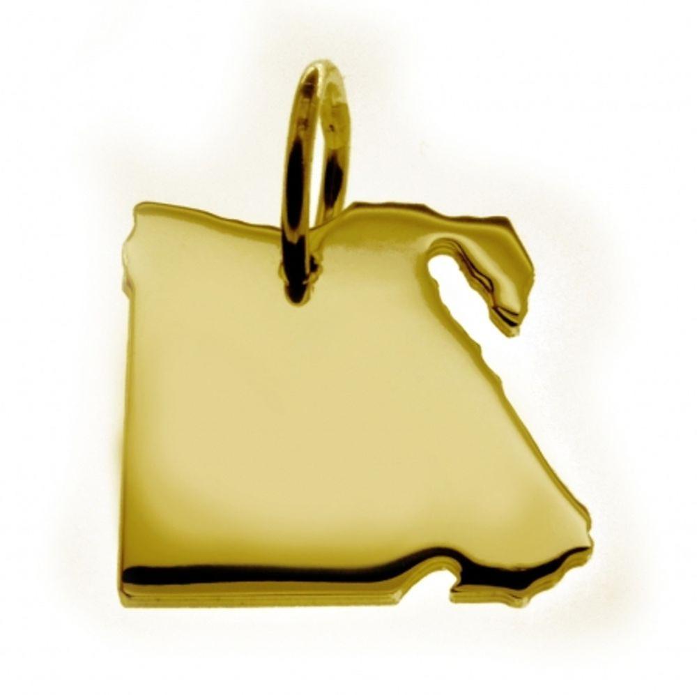 Anhänger Landkarte Kettenanhänger in or jaune-or in der Form von ÄGYPTEN