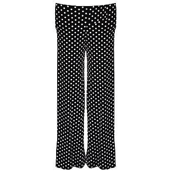 Детская полька точка замечен черно белые блики мешковатые девочек партии брюки