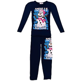 Children's Snowman Olaf Totally Chilled Girls Frozen Christmas Pyjamas Suit Set