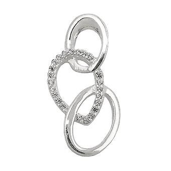 Pendant zirconias polished silver 925