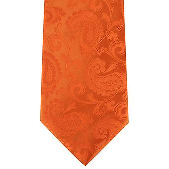 David Van Hagen Paisley Tie - Orange
